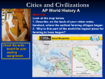 Cities and Civilizations