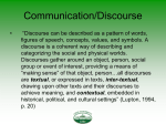 INCO 101 Fundamentals of Human Communication
