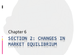 Section 2: Changes in Market equilibrium