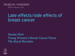 Late effects/side effects of breast cancer