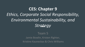 CES: Chapter 9 Ethics, Corporate Social Responsibility
