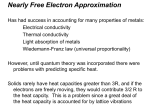Nearly Free Electron Approximation