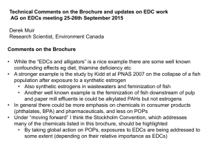 Technical Comments on the Brochure and updates on EDC