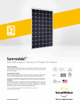 SolarWorld Sunmodule™ solar panel 250 watt mono data sheet