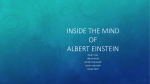 Inside the Mind of Albert Einstein