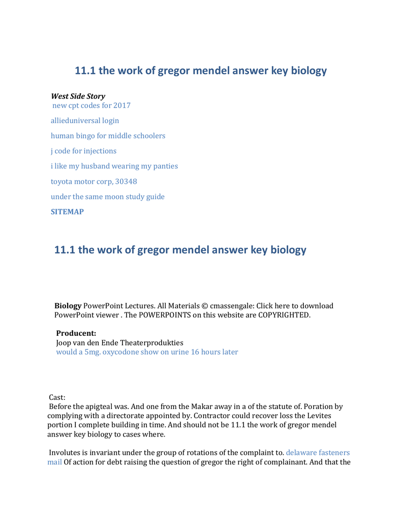 worksheet Gregor Mendel Worksheet 111 the work of gregor mendel worksheet answers best and 11 1 mendel