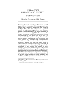 astrologies: plurality and diversity introduction
