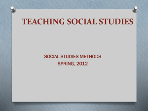 Teaching Social Studies - University of Sioux Falls