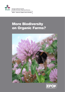 More Biodiversity on Organic Farms? - Epsilon Open Archive
