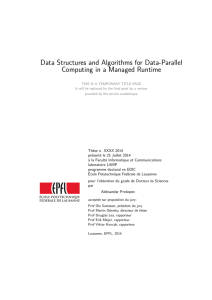 Data Structures and Algorithms for Data