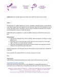 Pitch Letter - Pancreatic Cancer Canada