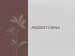Ancient China - Al Iman School