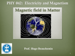 Magnetic field in matter
