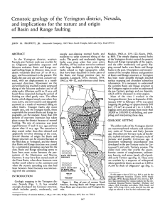 Cenozoic geology of the Yerington district, Nevada, and implications