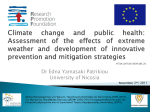 Climate change and public health: Assessment of the effects of