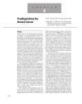 Predisposition for Breast Cancer