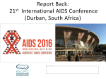 Report Back: 20th International AIDS Conference (Melbourne