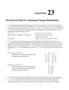 CHAPTER 23 The Electric Field II: Continuous Charge