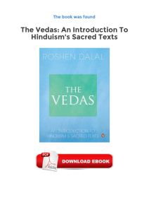 The Vedas: An Introduction To Hinduism`s Sacred Texts Ebooks Free