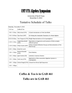UNT UTA Algebra Symposium University of North Texas November