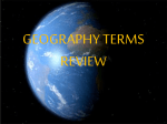 geography terms review