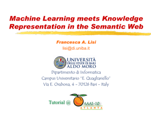 Machine Learning meets Knowledge Representation in the