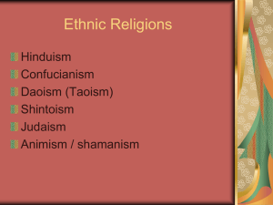 Supplemental Ethnic Religions PPT