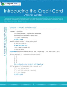 Introduction to Credit Card Answer Guide | CompareCards.com