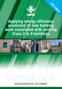 Applying Energy Efficiency Provisions to New Building Work