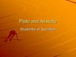 Plato and Aristotle Lecture Notes #4