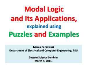 Modal Logic - Web Services Overview