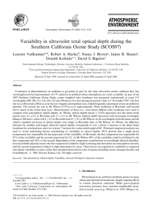 Variability in ultraviolet total optical depth during the Southern