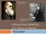 Population genetics as a means to explore