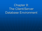 Client/Server and Middleware