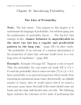 Chapter 10. Introducing Probability