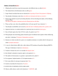 Chapter 11 Exam Review Key