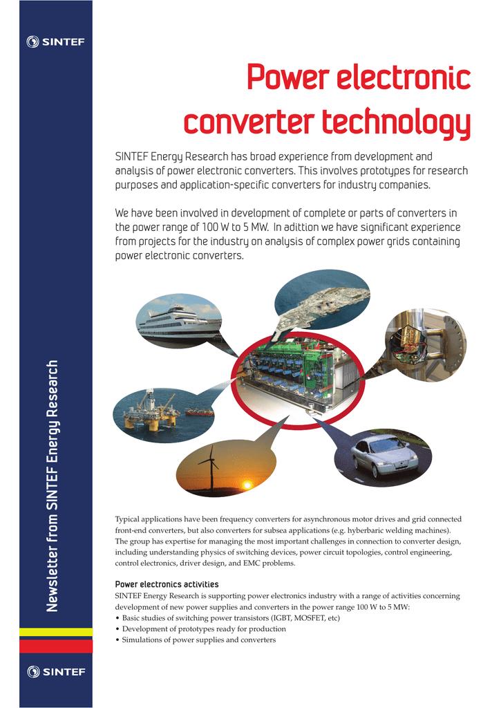 Power electronic converter technology