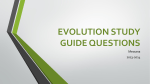 EVOLUTION STUDY GUIDE QUESTIONS
