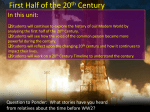 First Half of the 20th Century