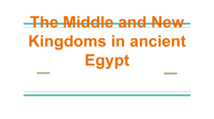 The Middle and New Kingdoms in ancient Egypt