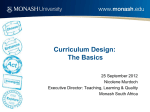 Curriculum design: The basics