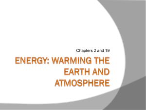 Energy: Warming the earth and Atmosphere