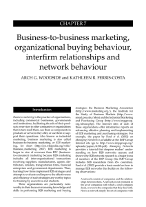 Business-to-business marketing, organizational buying behaviour
