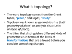 What is topology?