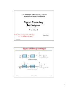 Signal Encoding Techniques - Ohio State Computer Science and