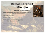 Romantic Period 1820-1910