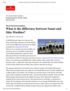 What is the difference between Sunni and Shia Muslims?