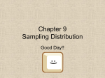 Chapter 9 Sampling Distributions