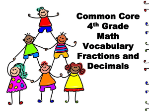 Common Core 4th Grade Math Vocabulary