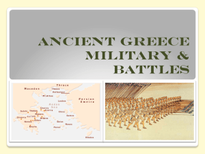 Ancient Greece: Battle Tactics and Wars